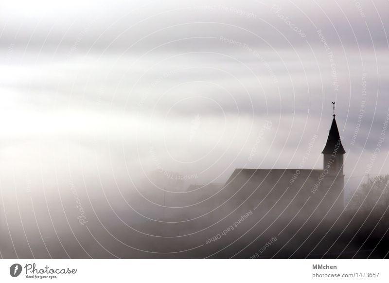 Heimat Natur Weihnachten & Advent Wolken Haus Architektur Herbst Gefühle Gebäude grau Nebel Kraft Kirche Hoffnung Schutz Ostern Hochzeit
