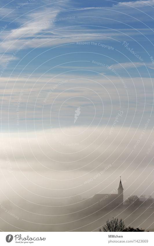 Alles klar? Natur Ferien & Urlaub & Reisen Weihnachten & Advent Erholung Landschaft ruhig Ferne Herbst Tod grau träumen Zufriedenheit Nebel Kirche Schutz Ostern