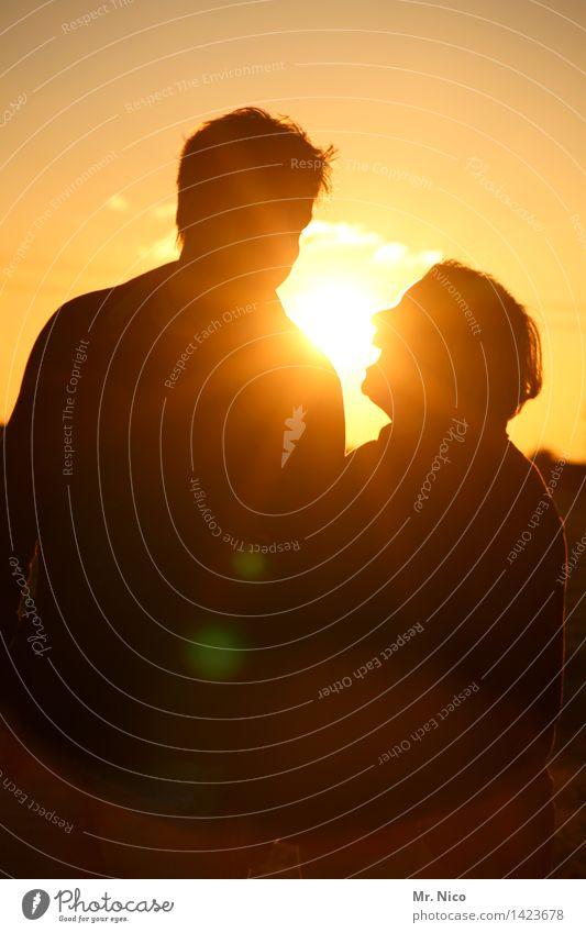 sonne macht glücklich Mensch Ferien & Urlaub & Reisen Sommer Sonne Freude Umwelt gelb Wärme Liebe natürlich feminin lachen Glück Freiheit Paar Zusammensein
