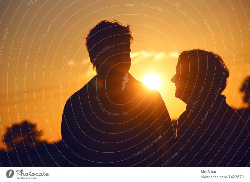 sunny afternoon Mensch Frau Natur Ferien & Urlaub & Reisen Mann Sommer Erholung Erwachsene Umwelt gelb Liebe feminin Glück Paar Zusammensein Freundschaft