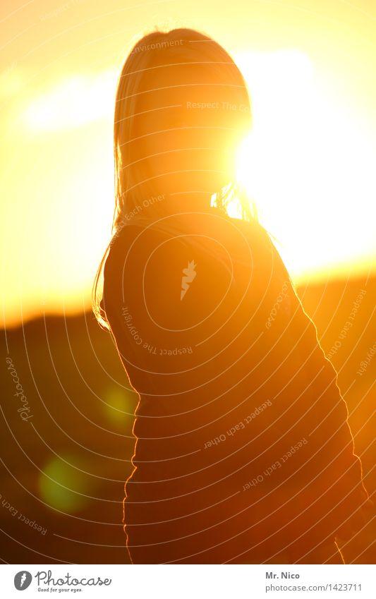 burner Ferien & Urlaub & Reisen Sommer feminin Mädchen Jugendliche Umwelt Natur Sonne Schönes Wetter blond langhaarig gelb gold Lebensfreude natürlich