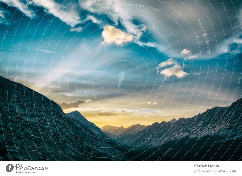 Abendstimmung in der Sierra Himmel Natur Ferien & Urlaub & Reisen Sommer Sonne Erholung Landschaft Wolken ruhig Ferne Wald Berge u. Gebirge Umwelt Felsen