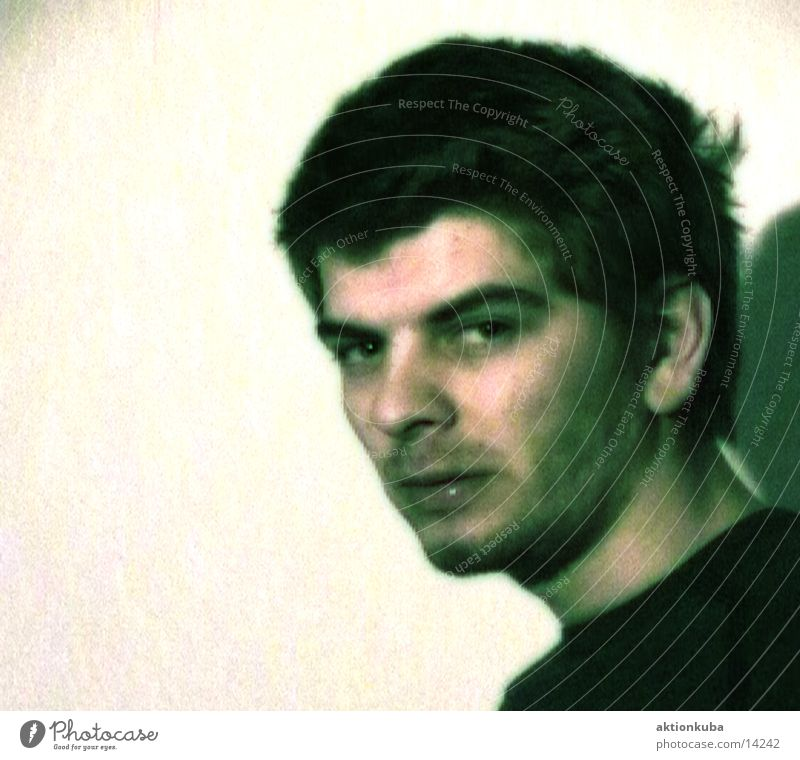 Mister Pixel grau Mann der wahnsinn ist ein megaphon DDR Traurigkeit