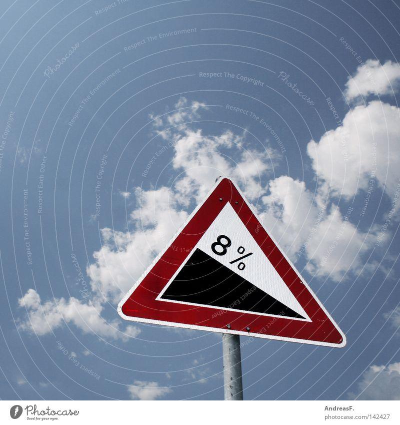 8% auf alles ....außer tiernahrung Prozentzeichen Bonus Preisreduzierung Schilder & Markierungen Berghang Steigung steigend aufwärts abwärts Verkehrsschild