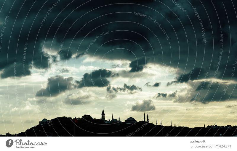 Istanbul Ferien & Urlaub & Reisen Tourismus Ausflug Ferne Urelemente Himmel Wolken Gewitterwolken Horizont Türkei Stadt Hauptstadt Stadtzentrum Altstadt Haus