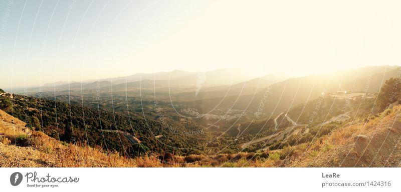 Sardinian landscape Natur Landschaft Himmel Sonne Sonnenaufgang Sonnenuntergang Sonnenlicht Frühling Sommer Herbst Hügel ästhetisch Ferne blau braun Gefühle