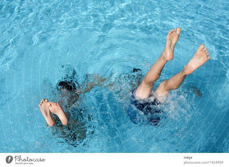 Synchronschwimmen für willma... Mensch Kind Ferien & Urlaub & Reisen Jugendliche blau Sommer Wasser Meer Freude Mädchen Leben feminin Junge Spielen Lifestyle Schwimmen & Baden
