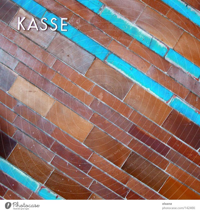::KASSE:: Stein Schriftzeichen Buchstaben Fliesen u. Kacheln Backstein Typographie bezahlen Kasse