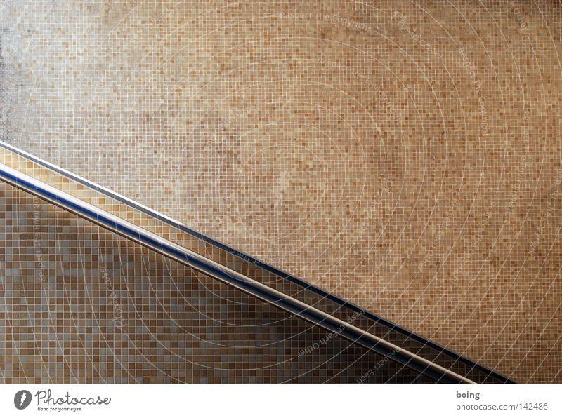 Raimund Wand Hintergrundbild Treppe Fliesen u. Kacheln diagonal Geländer Treppengeländer abwärts Fuge Mosaik Unterführung