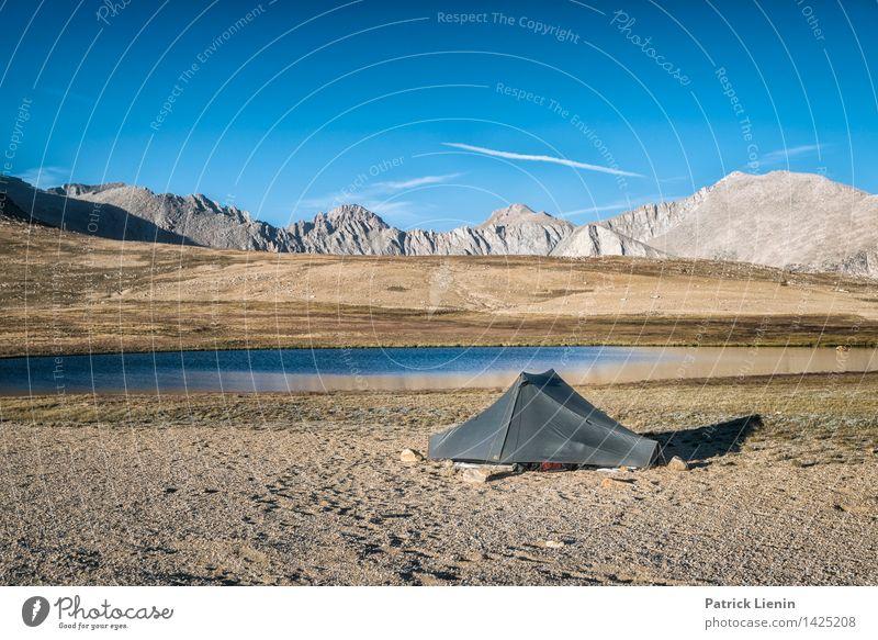 Haus am See harmonisch Wohlgefühl Zufriedenheit Sinnesorgane Erholung ruhig Ausflug Abenteuer Ferne Freiheit Expedition Camping Sommer Berge u. Gebirge wandern