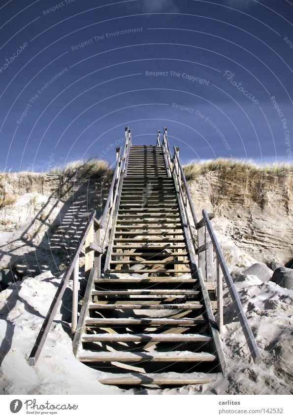 8 min von Led Zeppelin schrittweise Strand aufsteigen Karriere Sylt Westerland Erfolg Küste Wetter Treppe vorankommen Sand Stranddüne Himmel