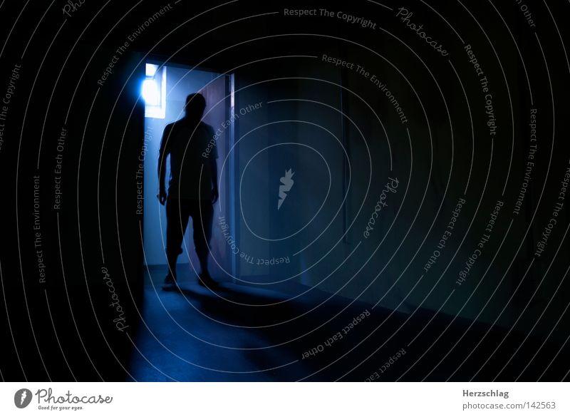 Dead Room Mensch blau schwarz Tod kalt Stimmung Raum Angst Filmmaterial Filmindustrie gruselig böse Alkoholisiert Örtlichkeit bleich Blut