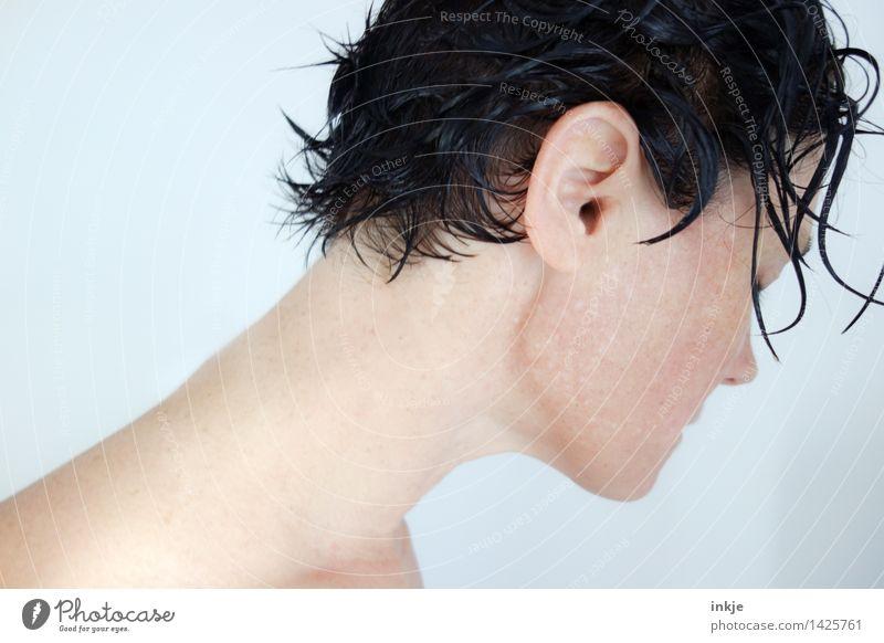/ Mensch Frau nackt schön Gesicht Erwachsene Leben feminin Lifestyle Haare & Frisuren Schwimmen & Baden Kopf hell Körper Haut nass