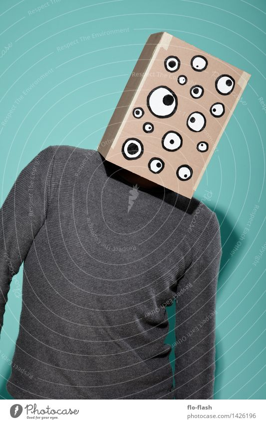 KARTOON • EUGEN jr. Mensch Jugendliche Mann Junger Mann 18-30 Jahre Erwachsene Lifestyle Mode maskulin Büro lernen beobachten Kultur Student Medien Maske