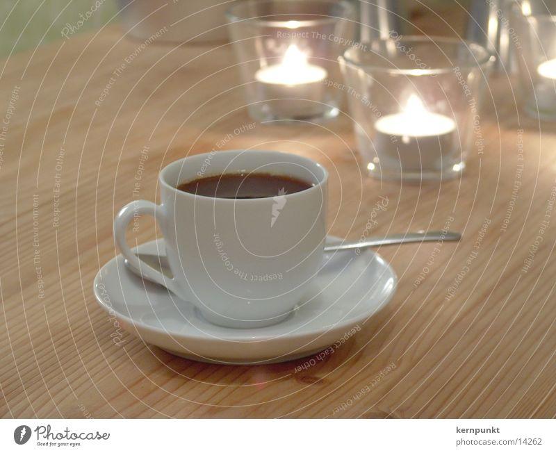 Espresso bei Kerzenschein Kaffee Café Tasse Gastronomie