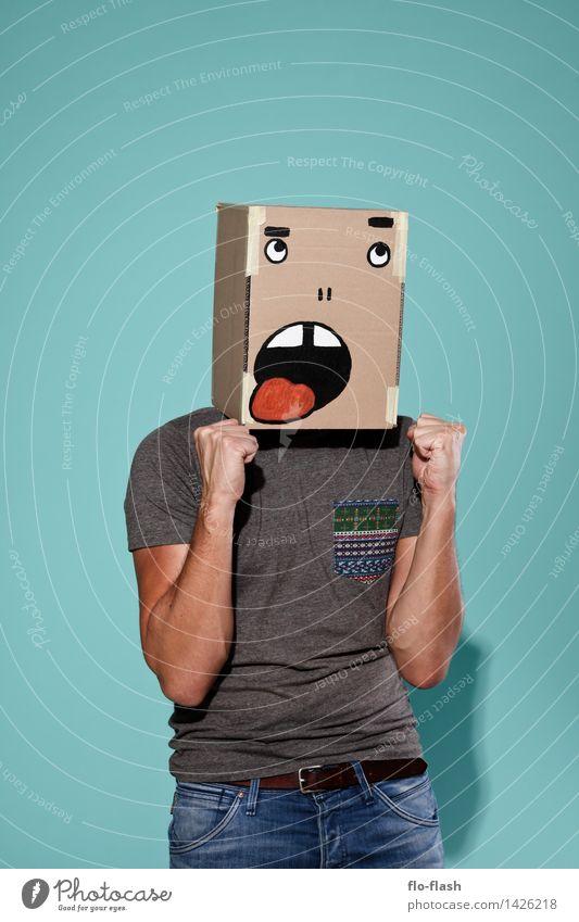 KARTOON • JEAN LÜCK II Mensch Jugendliche Mann Junger Mann 18-30 Jahre Erwachsene lustig Glück Lifestyle Feste & Feiern Mode Design maskulin Erfolg T-Shirt