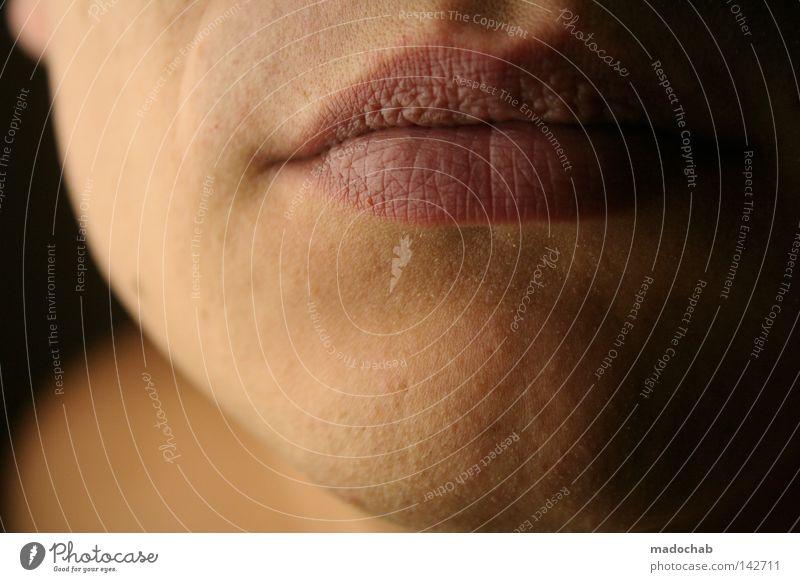 lippenlesen Mensch Mann Jugendliche schön Einsamkeit ruhig Gesicht Erwachsene feminin Leben Kopf Wärme Mund Haut maskulin weich