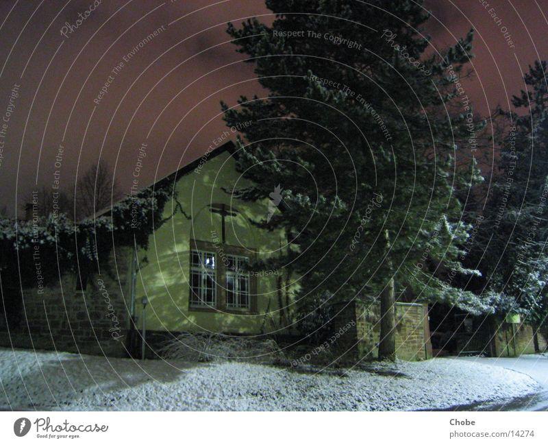 DarkChurch Gebäude dunkel Nacht Langzeitbelichtung Religion & Glaube Schnee Himmel