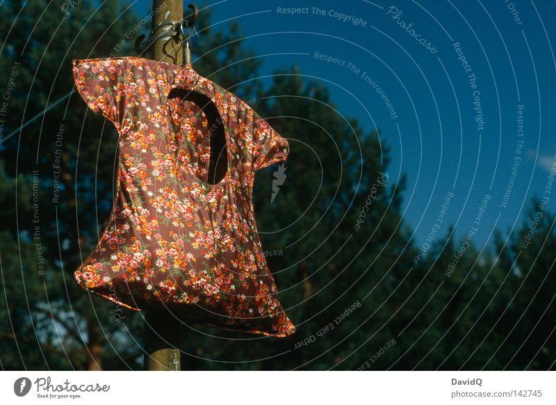 Korpus Kleid Stoff Bekleidung Polyester Wäsche Wäscheleine trocknen trocken Behälter u. Gefäße Blume Blumenmuster Wald Haushalt Bad Dederon Kunststoff
