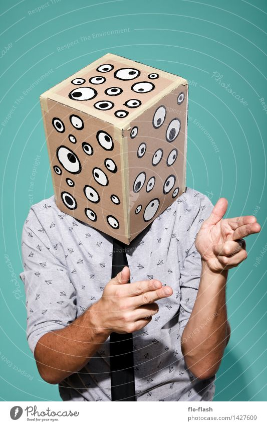 KARTOON · EUGEN V Mensch Jugendliche Mann Junger Mann 18-30 Jahre Erwachsene Auge Party Business maskulin Büro beobachten T-Shirt Student Medien Maske