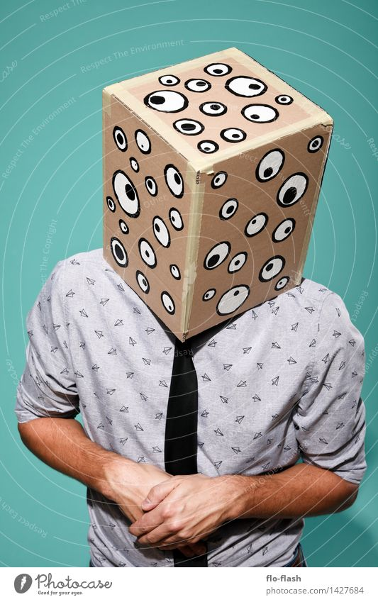 KARTOON · EUGEN III Mensch Jugendliche Mann Junger Mann 18-30 Jahre Erwachsene Stil Business maskulin beobachten Macht Neugier Schutz Sicherheit Student Maske