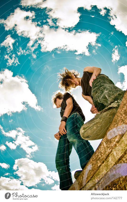 Die Struwwelpeter Himmel Sommer Freude Wolken Kraft Aktion wild Konzert Rockmusik Leidenschaft Punk schütteln langhaarig laut