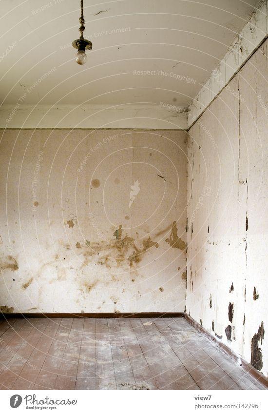Nichts. alt Einsamkeit Farbe Tod Wand Lampe Raum gehen dreckig Hintergrundbild Ordnung trist Boden Bodenbelag Vergänglichkeit Ende