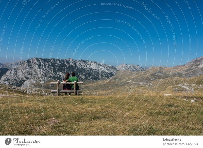 Du + Ich = Eins Mensch Natur Ferien & Urlaub & Reisen Landschaft ruhig Ferne Berge u. Gebirge Leben Liebe Gefühle Zeit Freiheit Paar Zusammensein Freundschaft