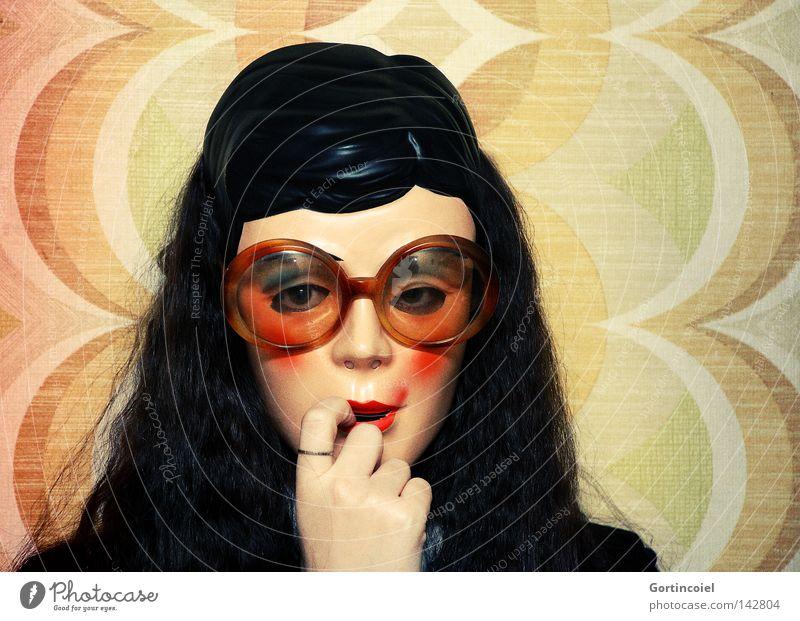 Lolita Frau Mensch Jugendliche Hand schön Erwachsene Gesicht Wand Kopf Haare & Frisuren verrückt Dekoration & Verzierung Brille retro Maske Karneval