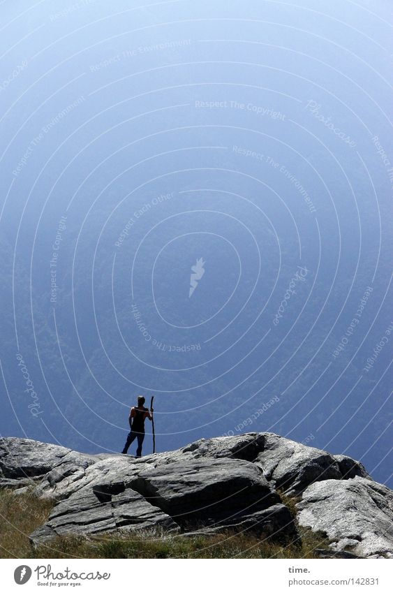 500 | Sky Peace Himmel blau Freude Ferne oben Berge u. Gebirge Stein Landschaft Luft Zufriedenheit wandern Nebel Felsen hoch Pause Niveau