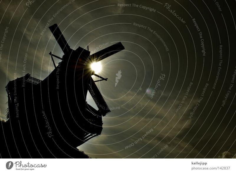 rickeracke! rickeracke! ... Himmel weiß Sonne grün rot schwarz Holz Wind groß Macht Flügel Dinge Handwerk Bauwerk verstecken