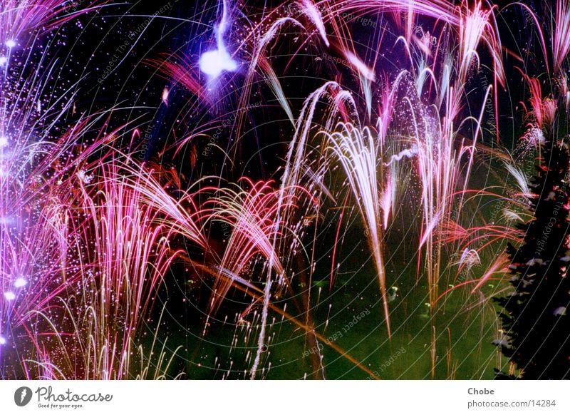 Fireworks 2001/02 Nacht Silvester u. Neujahr Licht Langzeitbelichtung Himmel Feuerwerk Farbe