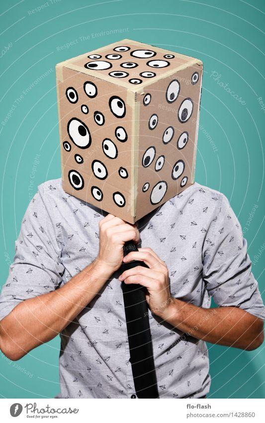 KARTOON • EUGEN I Mensch Jugendliche Mann Junger Mann 18-30 Jahre Erwachsene Auge maskulin Büro lernen kaufen Internet Student Medien Geldinstitut Maske
