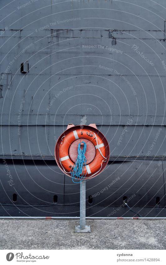 Für alle Fälle Ferien & Urlaub & Reisen Meer Küste Wasserfahrzeug Angst Ordnung Zukunft bedrohlich Abenteuer Seil Hilfsbereitschaft Schutz Sicherheit Hafen