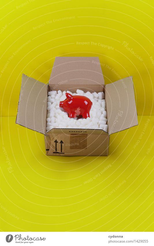 Bezahlware Farbe gelb Zukunft Geschenk Idee kaufen planen Hilfsbereitschaft Güterverkehr & Logistik Geld Schutz Sicherheit Geldinstitut Wirtschaft Beratung