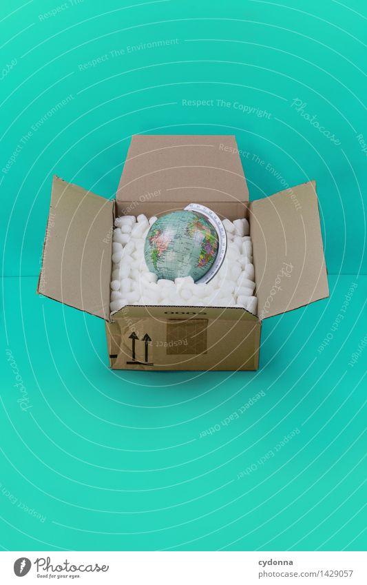 Beiseite packen kaufen Wirtschaft Handel Güterverkehr & Logistik Business Erfolg Verpackung Paket Globus Beratung Farbe Gesellschaft (Soziologie)