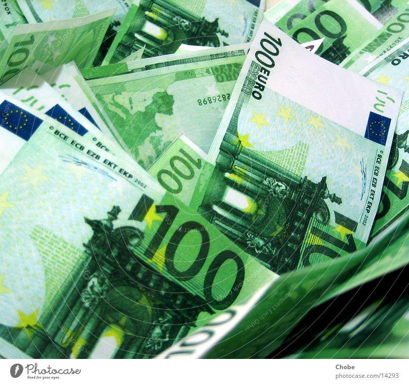 Money, Money, Money grün Geld Reichtum Euro Geldscheine reich Haufen