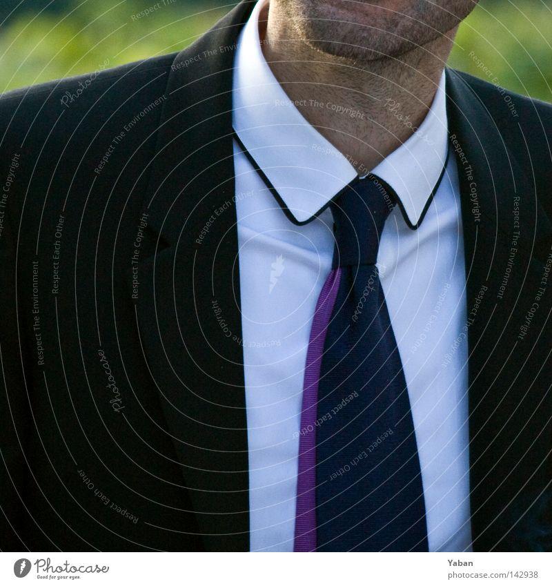 White Collar Mann weiß schwarz Stil Mode Arbeit & Erwerbstätigkeit elegant Erfolg modern Hemd Anzug edel Krawatte schick geschmackvoll unrasiert