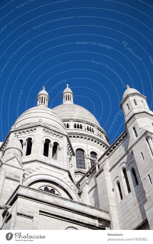 iii. Ferien & Urlaub & Reisen Tourismus Ausflug Sightseeing Städtereise Architektur Himmel Wolkenloser Himmel Schönes Wetter Paris Frankreich Stadt Hauptstadt