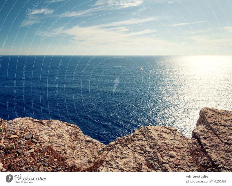 gute Aussicht! Himmel Natur Ferien & Urlaub & Reisen Sommer Wasser Sonne Erholung Meer Strand Umwelt Küste Felsen Wetter Tourismus Schönes Wetter