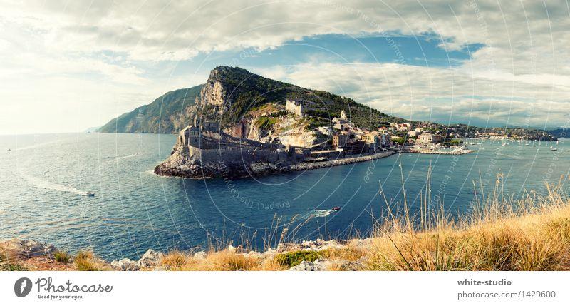 Toskana Umwelt Natur Landschaft Pflanze Wolken Sommer Klima Schönes Wetter Strand Bucht wandern Cinque Terre Insel Küste Meer Italien Sommerurlaub Meerwasser