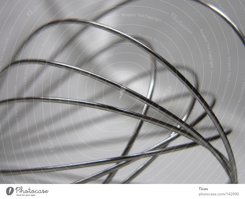 kurvenreich kochen & garen Rührbesen Edelstahl Küche Elektrisches Gerät Haushalt Gastronomie Handwerk Linie Kurve Metall Mischung Makroaufnahme Haushaltsgerät