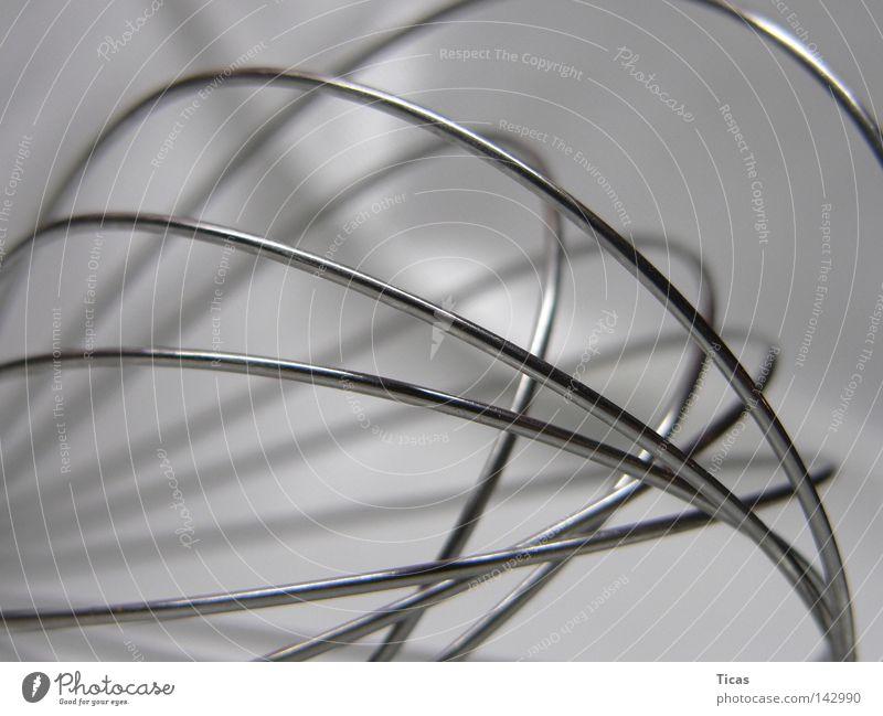 kurvenreich Linie Metall Kochen & Garen & Backen Küche Gastronomie Handwerk Kurve Mischung Haushalt Edelstahl Elektrisches Gerät Rührbesen Haushaltsgerät
