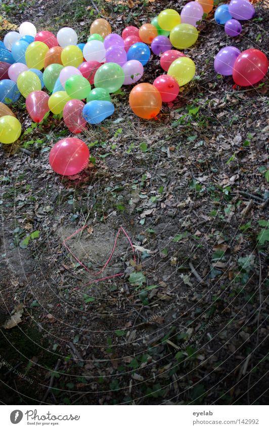 Bunte Gummi-Waldwanderung blau grün rot Sommer Freude Blatt gelb Herbst Spielen Frühling Holz Garten Party lustig Luft Park