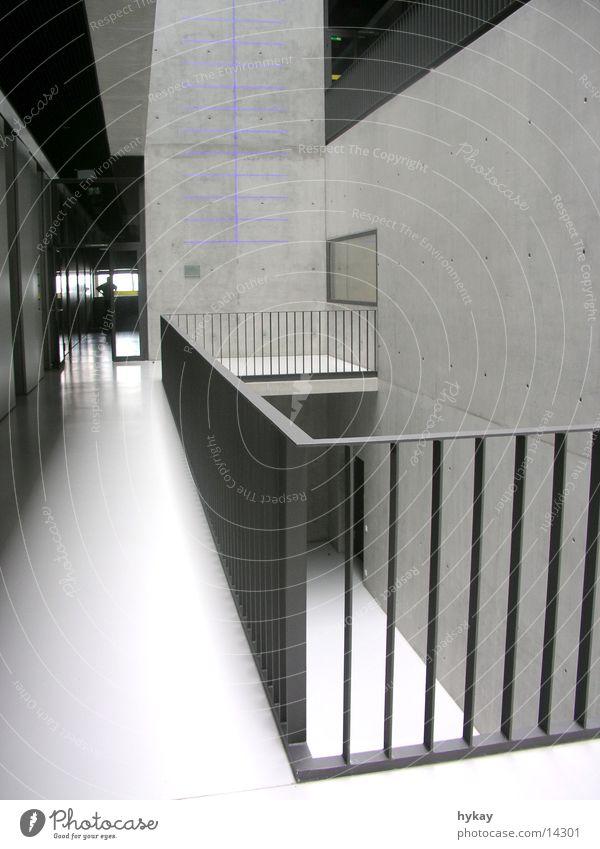 a1 grau Architektur Beton Stahl Etage Geländer