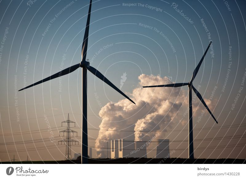 Kraftwerk Neurath Bewegung Arbeit & Erwerbstätigkeit Energiewirtschaft ästhetisch Technik & Technologie Zukunft Schönes Wetter Wandel & Veränderung Risiko