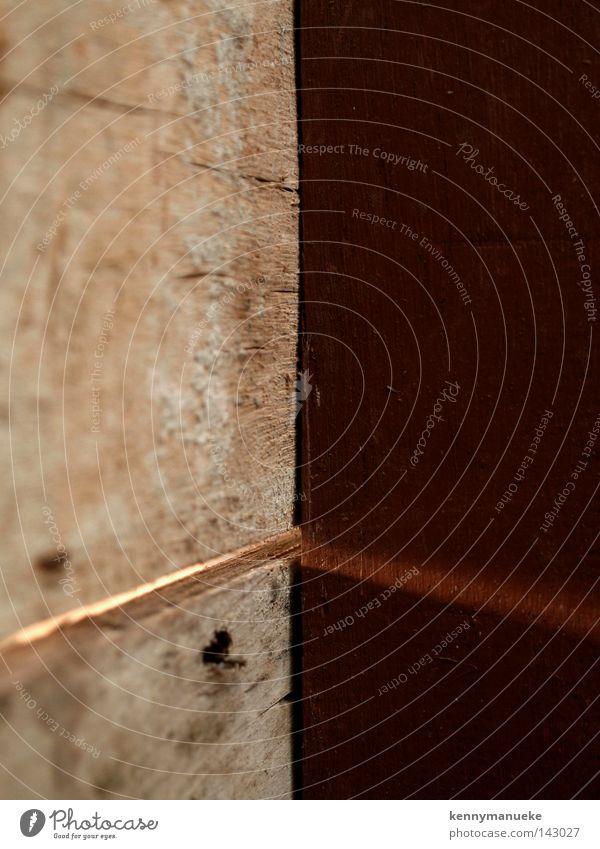 Ecke Makroaufnahme Nahaufnahme Holz Anarchie simbol braun Rochen Linien Holzhandwerk