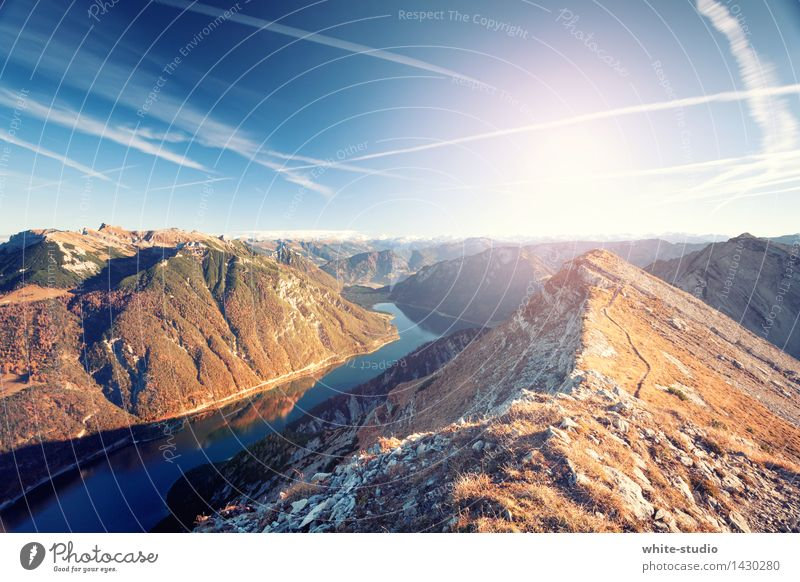 Wasser und Berge Ferien & Urlaub & Reisen Tourismus Ausflug Abenteuer Ferne Freiheit Camping Sommer Sommerurlaub Sonne Berge u. Gebirge wandern Klettern