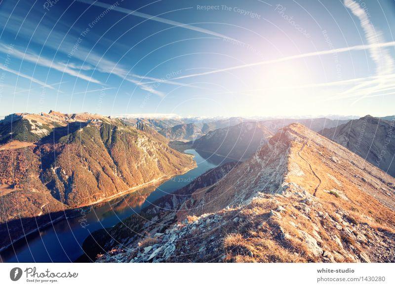 Wasser und Berge Natur Ferien & Urlaub & Reisen Sommer Sonne Landschaft Ferne Berge u. Gebirge Umwelt Freiheit Felsen Tourismus wandern Ausflug Abenteuer Gipfel
