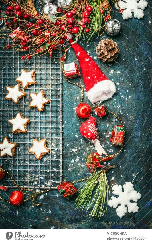 Weihnachtsplätzchen und Winterdekoration Weihnachten & Advent Freude Innenarchitektur Stil Feste & Feiern Design Wohnung Häusliches Leben Ernährung